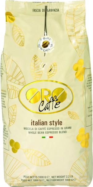 ORO CAFFE Espresso Italian Style 1kg Ganze Bohne