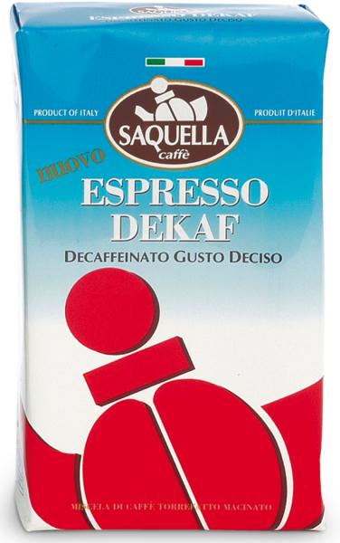 SAQUELLA Espresso Entkofiniert 250g Gemahlen