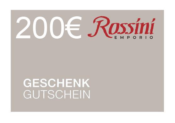 Rossini Gutschein 200€ (SOFORTVERSAND via E-Mail)